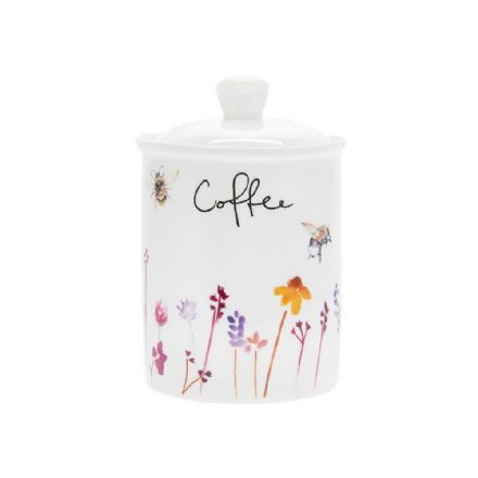Busy Bees Fine China Coffee Canister